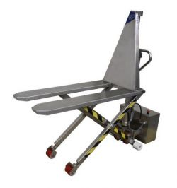 Transpalette haute levée électrique inox BADA 1000 kg